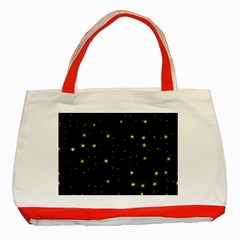Awesome Allover Stars 02a Classic Tote Bag (Red)