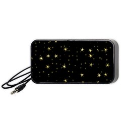 Awesome Allover Stars 02a Portable Speaker (Black)