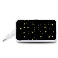 Awesome Allover Stars 02a Portable Speaker (White)