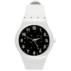 Awesome Allover Stars 02a Round Plastic Sport Watch (M)