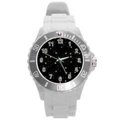 Awesome Allover Stars 02a Round Plastic Sport Watch (L)