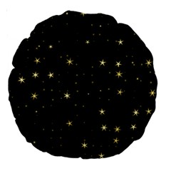 Awesome Allover Stars 02a Large 18  Premium Round Cushions