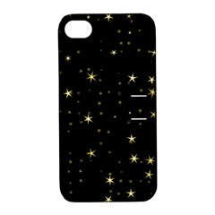 Awesome Allover Stars 02a Apple iPhone 4/4S Hardshell Case with Stand