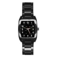 Awesome Allover Stars 02a Stainless Steel Barrel Watch