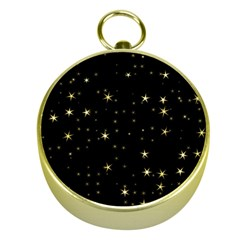 Awesome Allover Stars 02a Gold Compasses