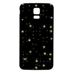 Awesome Allover Stars 02a Samsung Galaxy S5 Back Case (White)