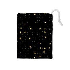 Awesome Allover Stars 02a Drawstring Pouches (Medium)
