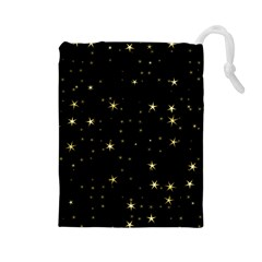 Awesome Allover Stars 02a Drawstring Pouches (Large)