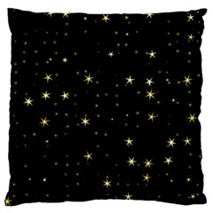Awesome Allover Stars 02a Large Flano Cushion Case (Two Sides)