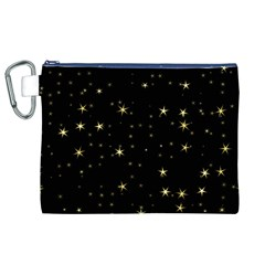 Awesome Allover Stars 02a Canvas Cosmetic Bag (XL)