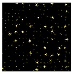 Awesome Allover Stars 02a Large Satin Scarf (Square)