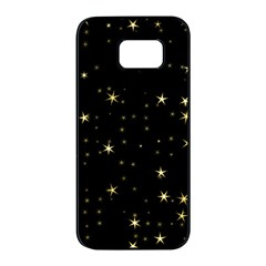 Awesome Allover Stars 02a Samsung Galaxy S7 edge Black Seamless Case