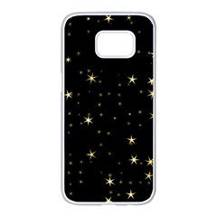Awesome Allover Stars 02a Samsung Galaxy S7 edge White Seamless Case