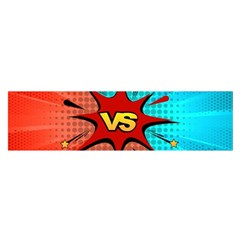 Comic Book VS with Colorful Comic Speech Bubbles  Satin Scarf (Oblong)