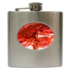 Nice Rose With Water Hip Flask (6 Oz)
