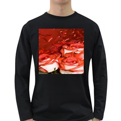 Nice Rose With Water Long Sleeve Dark T-Shirts
