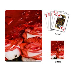 Nice Rose With Water Playing Card