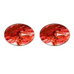 Nice Rose With Water Cufflinks (oval)