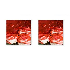 Nice Rose With Water Cufflinks (square)
