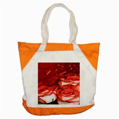 Nice Rose With Water Accent Tote Bag