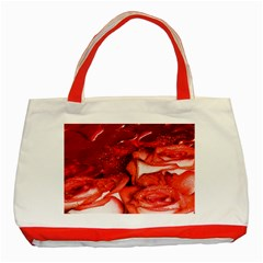 Nice Rose With Water Classic Tote Bag (Red)