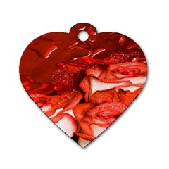Nice Rose With Water Dog Tag Heart (Two Sides)