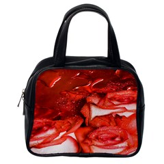 Nice Rose With Water Classic Handbags (One Side)