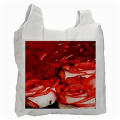 Nice Rose With Water Recycle Bag (One Side)