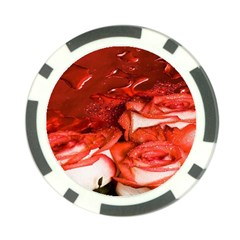 Nice Rose With Water Poker Chip Card Guard (10 Pack)