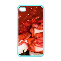 Nice Rose With Water Apple iPhone 4 Case (Color)