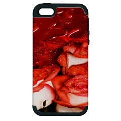 Nice Rose With Water Apple iPhone 5 Hardshell Case (PC+Silicone)