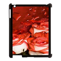 Nice Rose With Water Apple Ipad 3/4 Case (black)