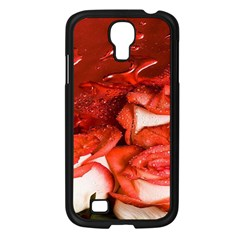 Nice Rose With Water Samsung Galaxy S4 I9500/ I9505 Case (Black)