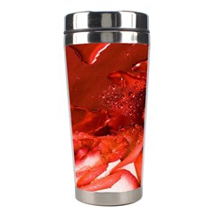 Nice Rose With Water Stainless Steel Travel Tumblers