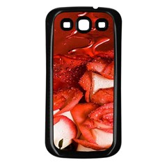 Nice Rose With Water Samsung Galaxy S3 Back Case (Black)
