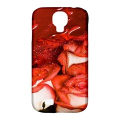 Nice Rose With Water Samsung Galaxy S4 Classic Hardshell Case (PC+Silicone)