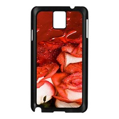 Nice Rose With Water Samsung Galaxy Note 3 N9005 Case (Black)