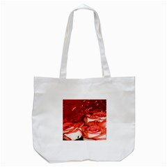 Nice Rose With Water Tote Bag (White)