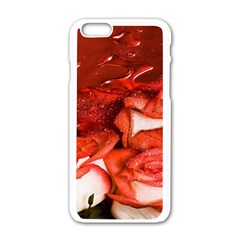 Nice Rose With Water Apple iPhone 6/6S White Enamel Case