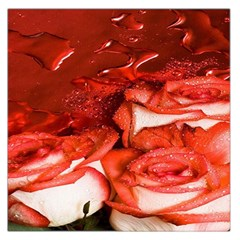 Nice Rose With Water Large Satin Scarf (Square)