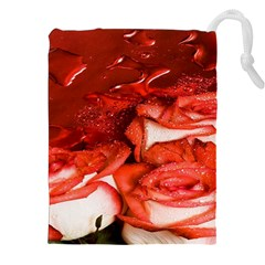 Nice Rose With Water Drawstring Pouches (xxl)