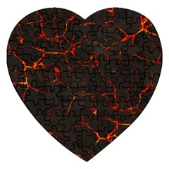 Volcanic Textures Jigsaw Puzzle (Heart)