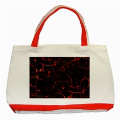 Volcanic Textures Classic Tote Bag (Red)