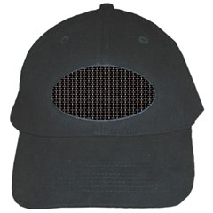 Dark Black Mesh Patterns Black Cap