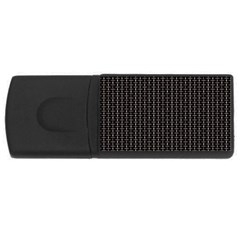 Dark Black Mesh Patterns USB Flash Drive Rectangular (1 GB)