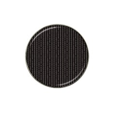 Dark Black Mesh Patterns Hat Clip Ball Marker (10 Pack)