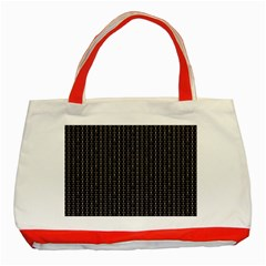 Dark Black Mesh Patterns Classic Tote Bag (Red)