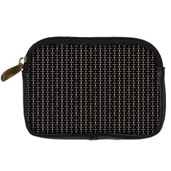 Dark Black Mesh Patterns Digital Camera Cases