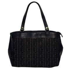 Dark Black Mesh Patterns Office Handbags