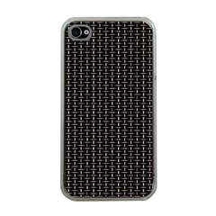 Dark Black Mesh Patterns Apple Iphone 4 Case (clear)
